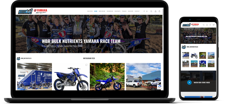WBR Motorcycles Website Mockup