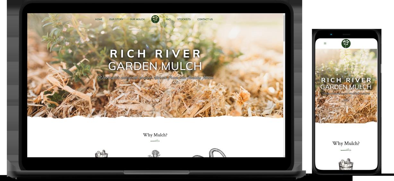 Rich River Garden Mulch Website Mockup