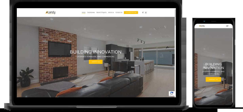Landy Builders Website Mockup